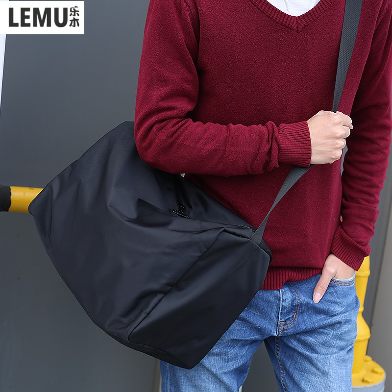 Lemu hommes grands sacs à bandoulière Sport Messenger sac décontracté épaule étanche Gym hommes voyage pour balle Fitness accessoires mode