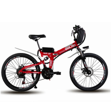 26inch electric mountain bike folding electric font b bicycle b font 48v lithium battery off road