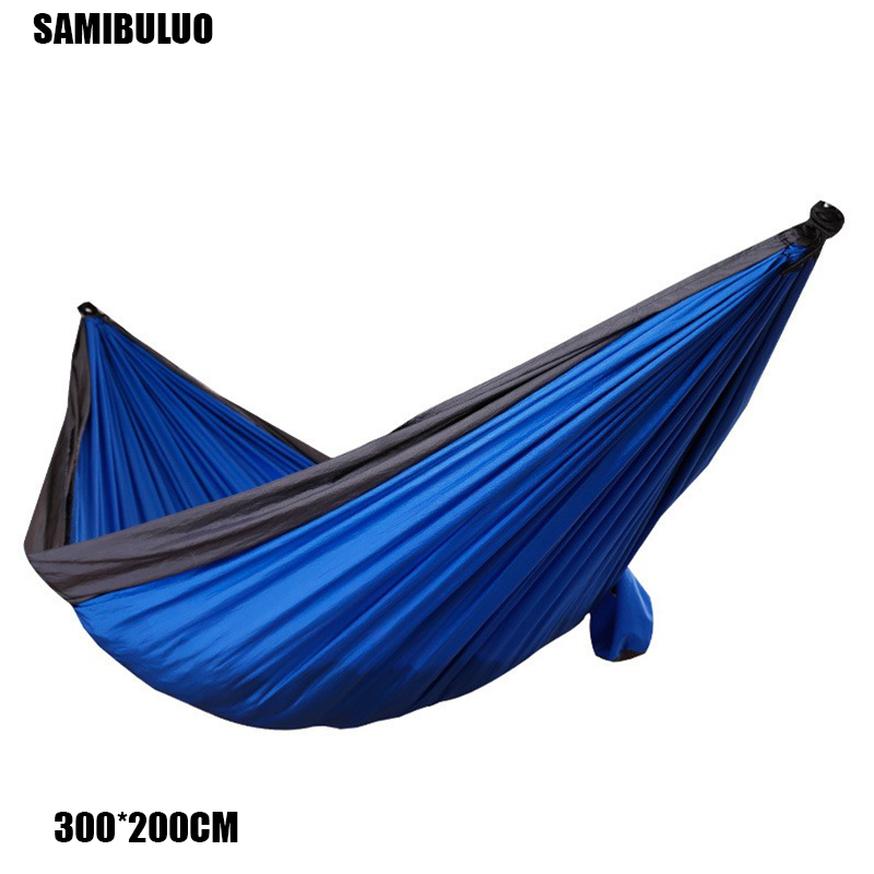 Large Parachute Lightweight Fabric Hammock For Outdoor Camping Survival Beach Yard 320*200cm