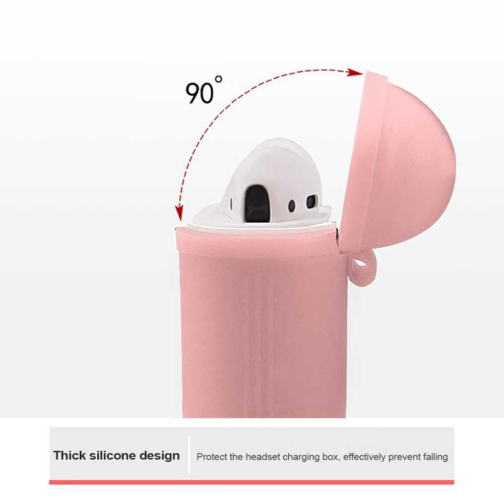 Funda de silicona funda para auriculares funda protectora de piel Anti-Pérdida cable auriculares funda para Apple AirPods