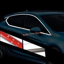 16 ШТ. Стали Внешняя Сторона Дверной Полное Окно Верхний и Нижний Молдинги Для Opel Astra 2015-2017 Хэтчбек