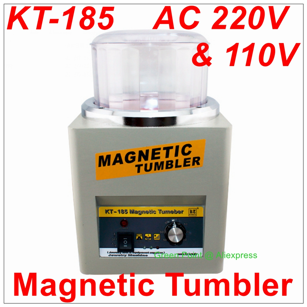 KT 185 Magnetic Tumbler Jewelry Polisher Finisher Finishing Machine Magnetic Polishing Machine AC 110V 220V Available