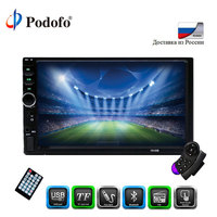 Podofo Autoradio 2din 7 '' LCD Touch screen car radio Multimedia player car audio auto Stereo bluetooth Support Rearview Camera
