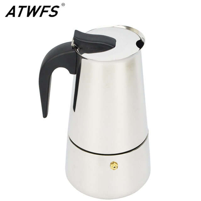 ATWFS Новые 2/4/6/9 Чашки Мока Caffe Машина Чашки Эспрессо Кофе Латте Percolator Плитой Мока Кофе