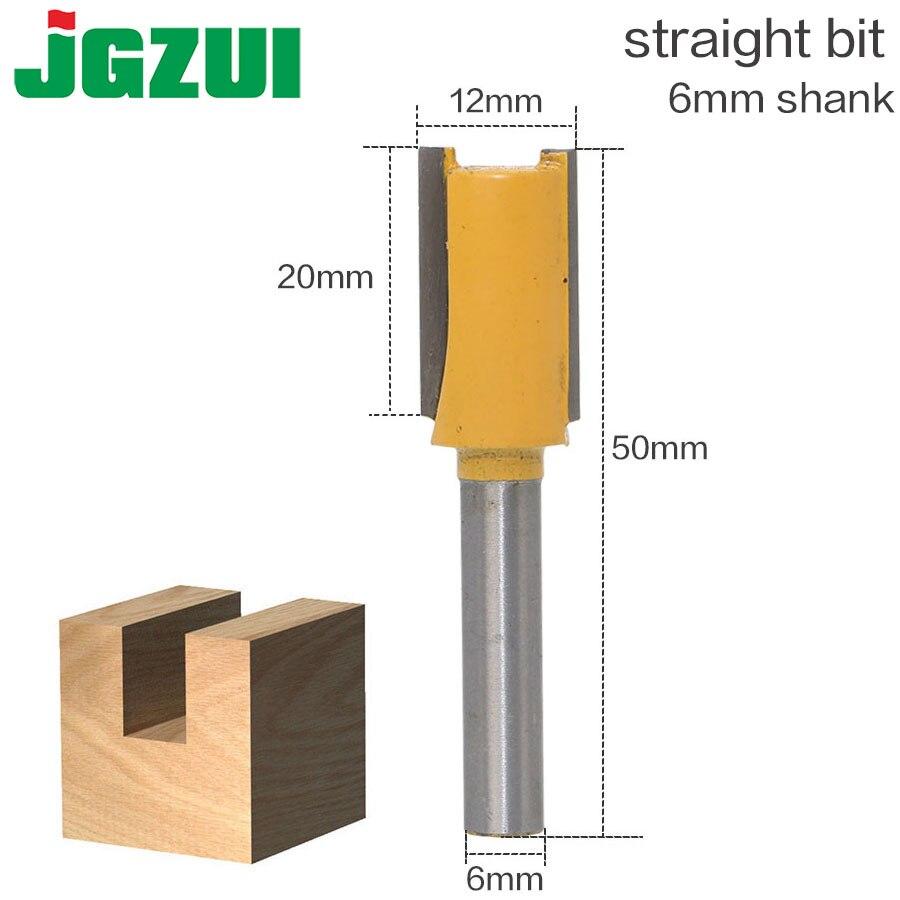 6mm Shank High Quality Straight/Dado Router Bit Set 12mm Diameter Wood Cutting Tool