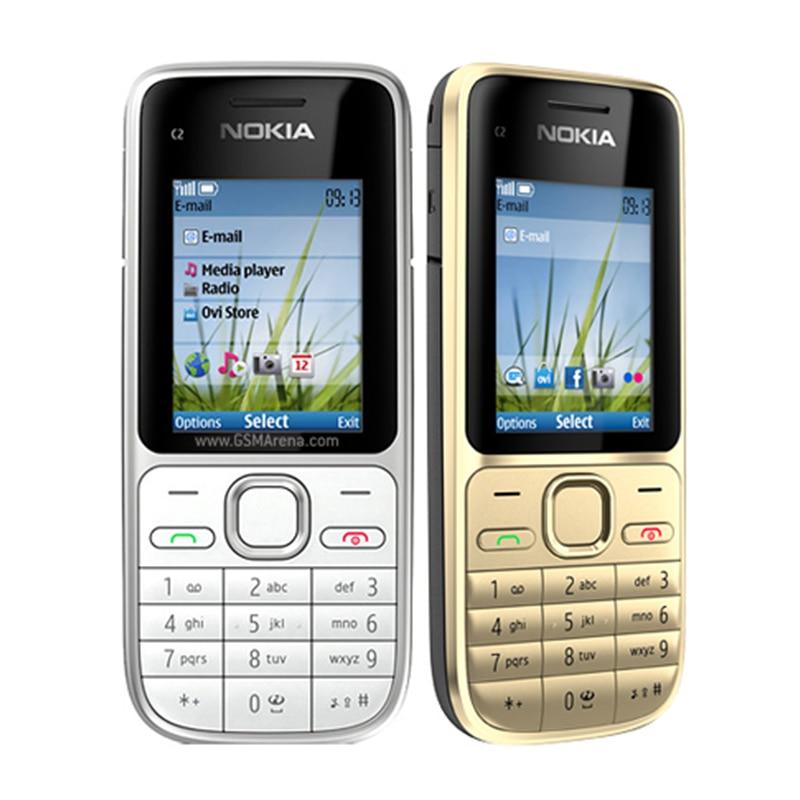C2 01 Original Unlocked Nokia C2 01 1020mAh 3 15MP 3G Support Englihs Russian Hebrew Arabic