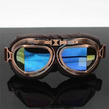 Helmet Steampunk Copper Glasses Motorcycle Flying Goggles Vintage Pilot Biker Eyewear Goggles Protective Gear Glasses цена