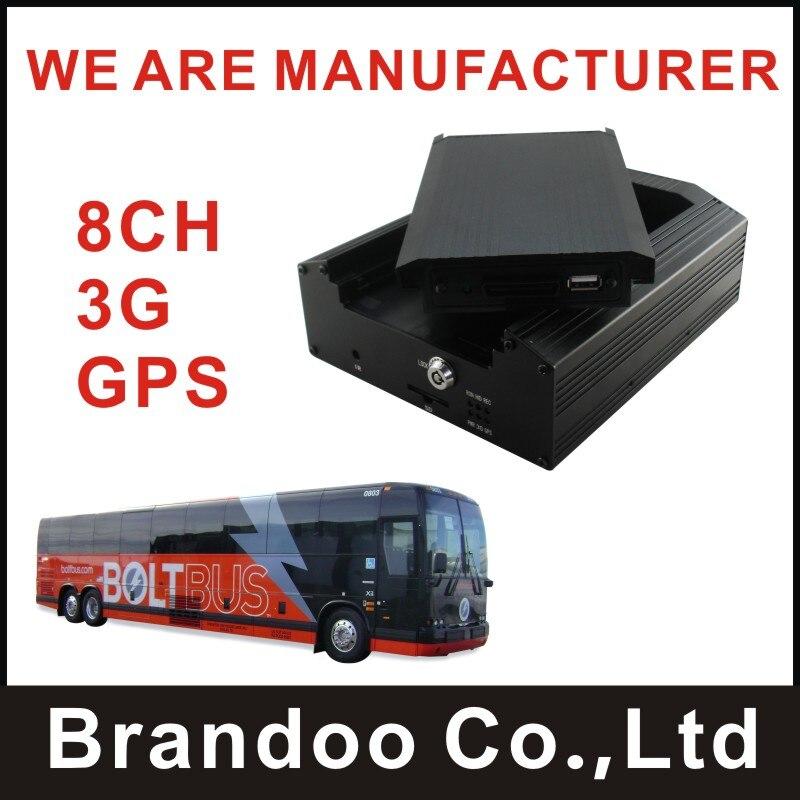 Недорогие 8 канала 3G + GPS MDVR, 3G видео в реальном времени и GPS, 2 ТБ HDD записи, для шины, грузовик, поезд используется