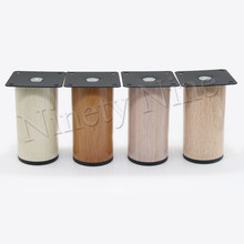 4Pcs 64*100mm Wood grain Metal Cabinet Furniture Legs Stainless Steel Cabinet Feet Kitchen Feet Round(China)