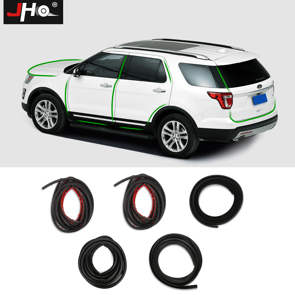 JHO Whole Car Soundproof Rubber Insulation Sealing Strip Hood Tailgate Door Edge For Ford Explorer 2011