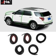 JHO весь автомобиль звукоизоляция резиновая изоляция уплотнительная полоса капот задняя дверь край для Ford Explorer 2011-2018 2012 13 14 15 16 17
