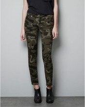 RenYvtil Новая Армия Мода Женщины Карандаш Брюки Женский Случайные Военные Джинсовые Брюки Узкие Эластичные Высокой Талией Камуфляж Брюки Женщины