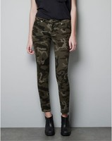 RenYvtil New Army Fashion Women Pencil Pant Female Casual Military Denim Trousers Tight Elastic High Waist Camouflage Pant Women