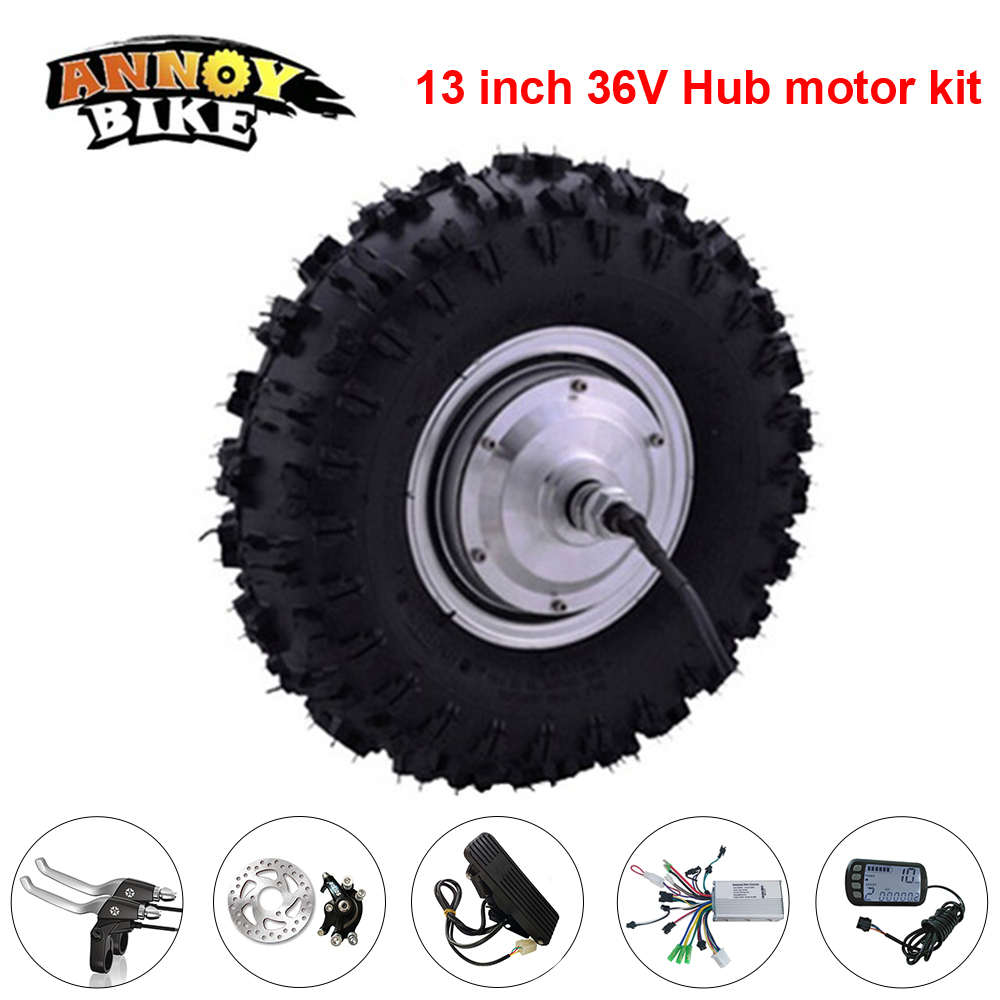 13 inch Electric Hub Motor For Wheelbarrow 36v 250w 500w Ebike BLDC Conversion Kit for Electric Bike Bicycle With Foot Throttle 4inches bldc hub motor with tyre hall sensor and eabs function enable for electric scooter ebike motorycle front or rear driven