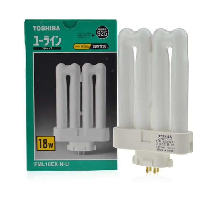 TOSHIBA 18 W FML18EX-N-U CFL lampe fluorescente compacte FML18EX-N/2, FML 18EX-N-U ampoule de lumière du jour, tube parallèle 4 broches