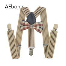 AEbone детские галстуки-бабочки и подтяжки Детские подтяжки для мальчиков подтяжки для брюк Винтаж Bretels Leder Suspensorios Menino Sus29