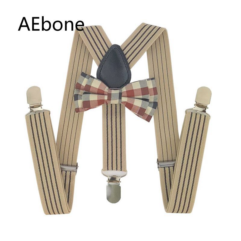AEbone Baby Bow Ties And Suspenders Kids Braces Boys Suspenders For Pants Vintage Bretels Leder Suspensorios Menino Sus29