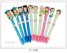 50pcs/lot creative stationery doctor nurse pen lovely gift prizes soft polymer clay ballpoint
