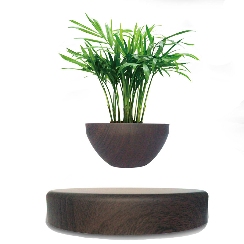 LED Levitating Air Bonsai <font><b>Pot</b></font> <font><b>Flower</b></font> <font><b>Pot</b></font> <font><b>Magnetic</b></font> Levitation Suspension <font><b>Flower</b></font> Floating <font><b>Pot</b></font> Potted Plant For Home Office Decor image