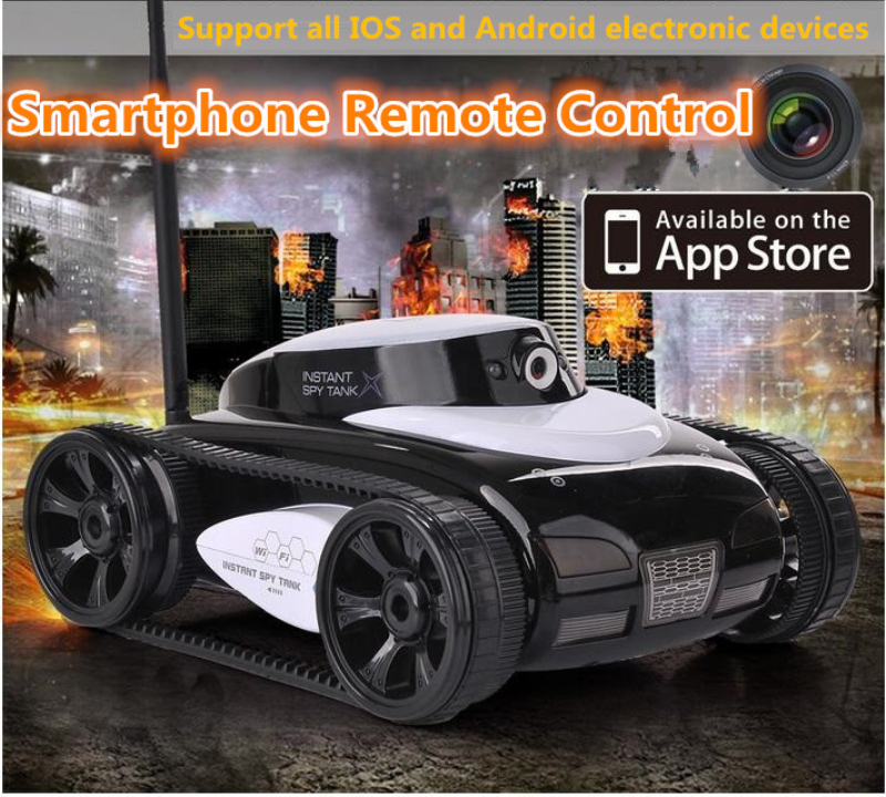 HappyCow Smart 777-287 action time 60MINS Wifi 4CH Controlled by iPhone iPad Electric With Camera RC Tank 1:16 Tamiya Toy Gift стоимость