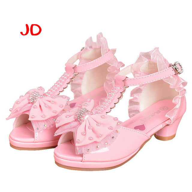 52eab4a8eb0 Spring Summer Girls New Pattern Girl Sandals Shoe Rome Child Sandals Girl  Princess Baby Shoes Bow