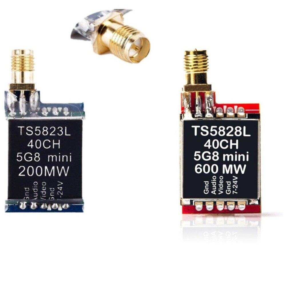 TS5823L/TS5828L 5,8g 40CH 200 mW/600 MW Mini Audio Video transmisor AV Tx para FPV QAV 210 QAVR 220 Drone fotografía aérea