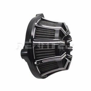 Image 5 - Filtro de ar Mais Limpo CNC Artesanato Invertido Grande Otário Para Harley Sportster 883 1200 Softail Dyna Touring Road King
