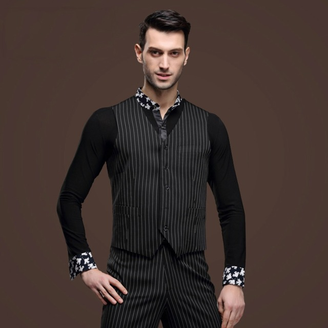 c53364396a5e Black Latin Dance Shirts For Male Long Sleeves Fabric Men's Shirt High  Quality Latino Ballroom Chacha Salsa Dancing Clothes 7045