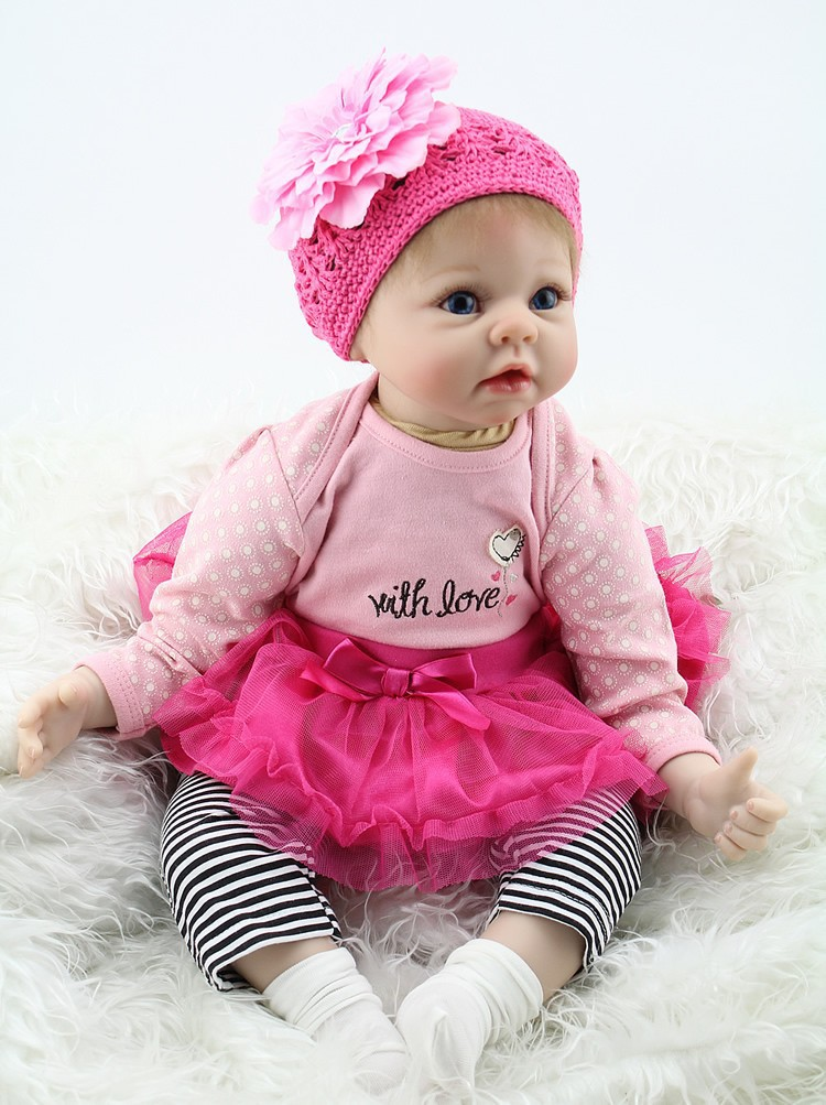NPK Big Handmade Doll For Kids 22 55cm Vinyl Lifelike Realistic Soft Silicone Reborn Baby Dolls