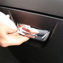 Car Styling Storage Box Cover Glove Box Handle Trim Sticker for Ford Focus 3 4 MK3 MK4 2013 - 2017 2018 LHD Accessories