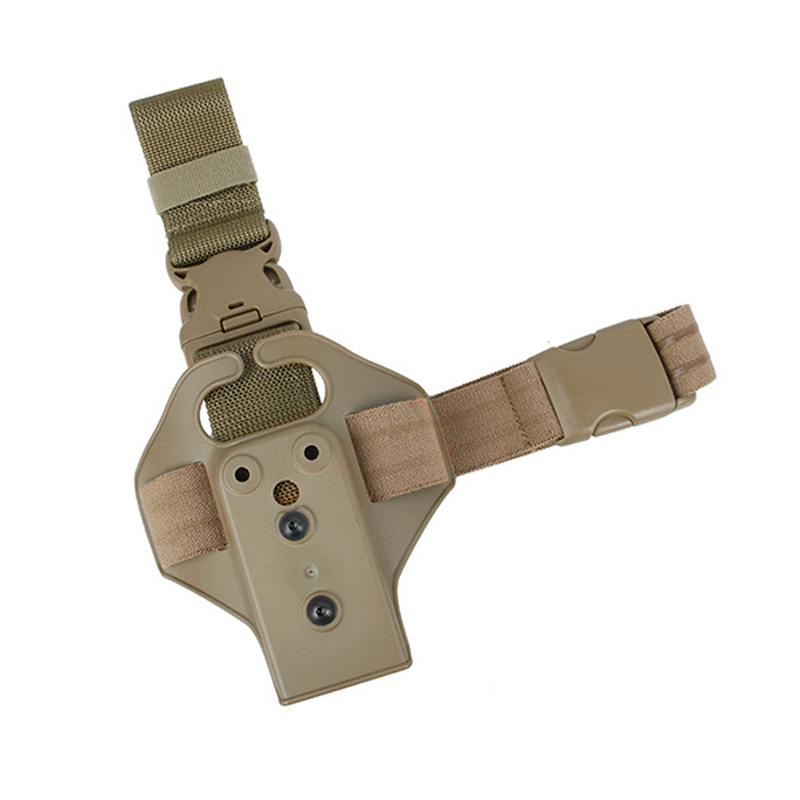 Free Shipping TMC Single Strap Tactical Pistol Holster Panel Safariland Drop Leg Thigh Holster Bag Pouch