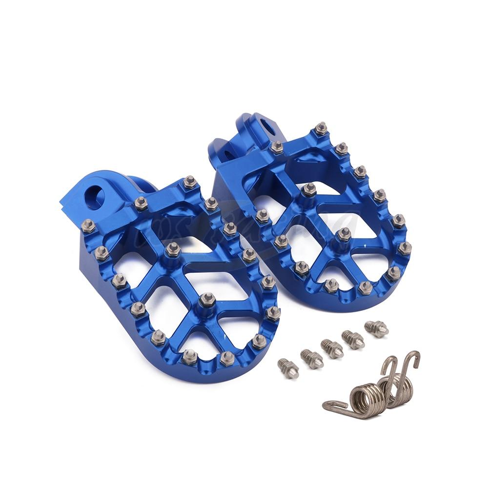 Motorcycle Billet MX Wide Foot Pegs Pedals Rest Footpegs For Husqvarna TC65 TC85 TC125 FC250-FC450 TC250 TE FE 150-501 FS450