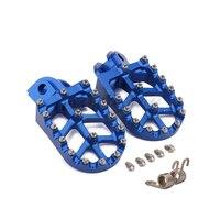 Motorcycle Billet MX Wide Foot Pegs Pedals Rest Footpegs For Husqvarna TC65 TC85 TC125 FC250 FC450 TC250 TE FE 150 501 701 FS450