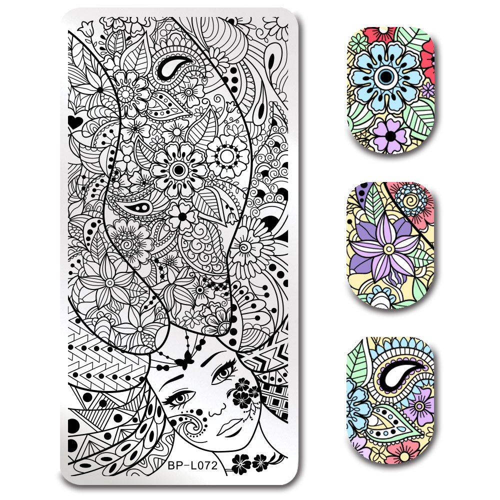 Geometric Reverse Stamping Nail Art Born Pretty Review: BORN PRETTY Geometry Anchor 5 Patterns Nail Stamping