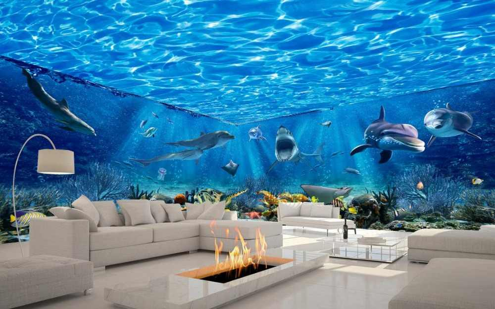 Custom photo wallpaper Sea World theme beautiful dream space Living room TV backdrop bedroom 3d photo wallpaper