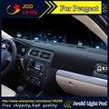 Evitar A luz do painel do carro Instrumento pad cover secretária plataforma Esteiras tapetes Auto acessórios Para Peugeot 206 207 301 307 308 408