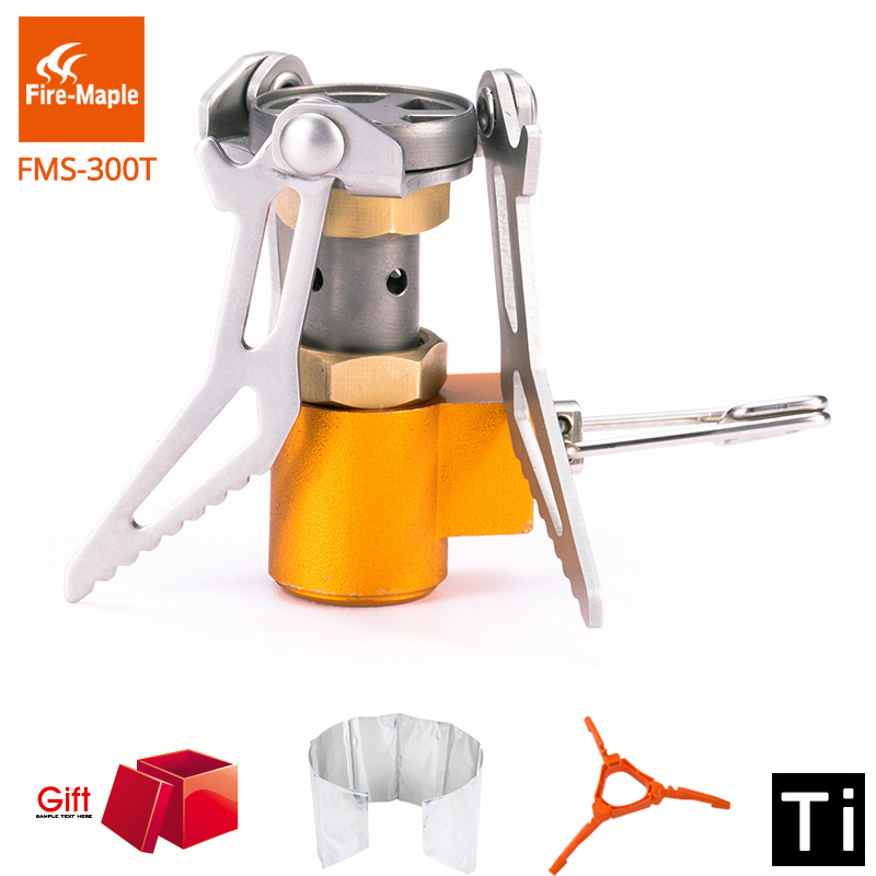 Подробнее о Fire Maple Titanium Alloy Ultra-light 45g 2600W Cooker Outdoor Burner Camping Gas Stove Picnic Cookout Hiking Equipment FMS-300T fire maple camping stove titanium stove hornet mini stove fms 300t