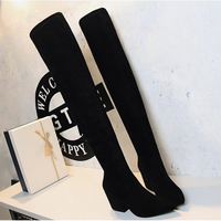 fashion Women Boots spring Winter Over The Knee Boots fashion boots heels quality suede long Boots comfort square heels ALF516