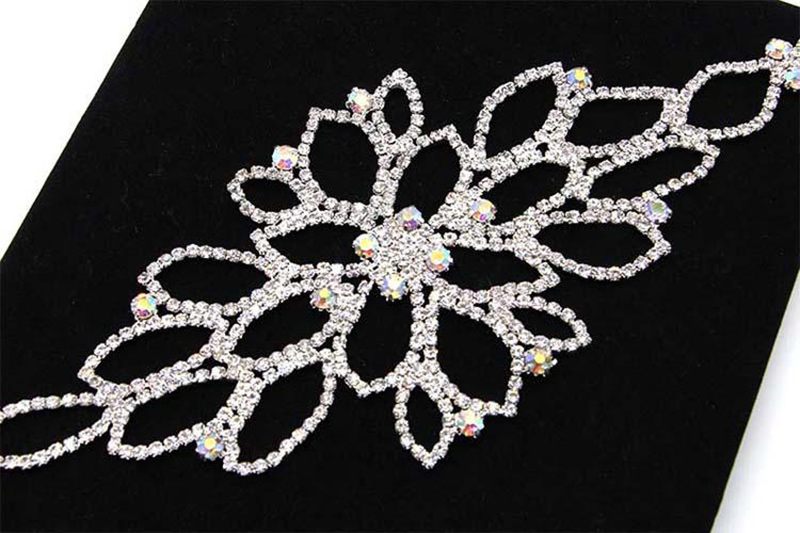 HIMSTORY Elegant Colorful Rhinestone Hair Accessories Armlet Bracelet New Wedding Party Jewelry Accessory in Hair Jewelry from Jewelry Accessories