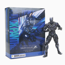 все цены на Marvel Black Panther PVC Toy Figure Model Super Hero Play Arts 27cm Marvel Avengers Action Figure Model Toy Dolls  Kids Gift онлайн