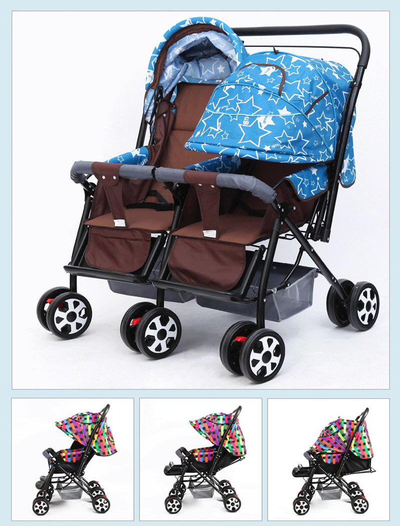 Newborn Umbrella Stroller Big Sale A4054 Double Baby Stroller Pram For Twins