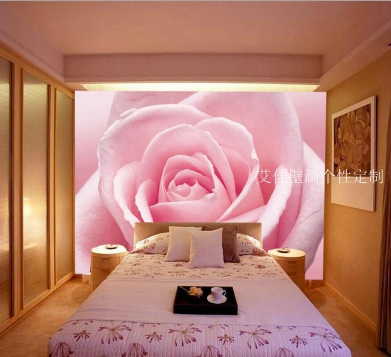 rosa rose tapete-kaufen billigrosa rose tapete partien aus china ... - Rosa Tapeten Schlafzimmer