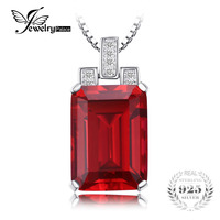 Stylish Luxury 9 52ct Emerald Cut Pendant High Quality Pigeon Blood Red Ruby Solid 925 Sterling