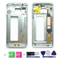 New Battery Door Middle Housing Cover Partition Replacement For Samsung Galaxy S7 Edge G935 Black White