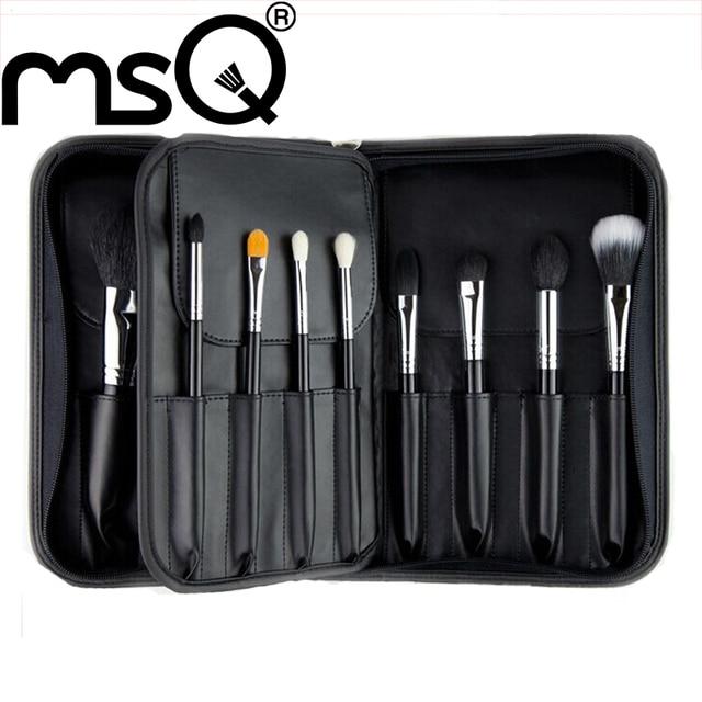 MSQ 15 шт. Профессиональный Макияж Кисти Kit Высококачественный Натуральный Козий Волос Косметический Инструмент Для Мода Красота