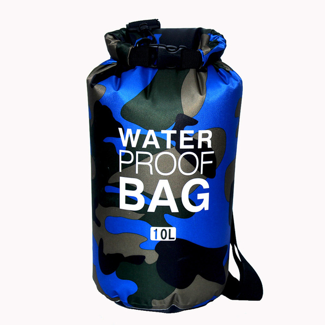 Outdoor Camouflage Portable Rafting Diving Dry Bag Sack PVC Waterproof Folding Swimming Storage Bag for River Trekking 2/5/10L 1
