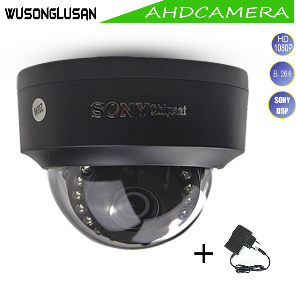 Home Security AHD Dome Camera Vandal Proof Full HD 1080P 2MP Sony IMX323 Indoor IR Cut Night Vision With Adapter For CCTV Camera new arrivals metal case cctv security ahd 1080p 2 0mp camera day night vision ir home security camera with bracket