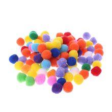 100 шт мягкие круглые пушистые ремесла 20 мм помпоны шар смешанных цветов помпоны куклы DIY ремесла аксессуары
