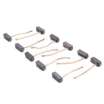 10 sztuk przewodzące szczotki węglowe szczotki silnika zestaw dla Generic wymiana elektryczna do komutatora silnika pierścień ślizgowy 5*6 * 14mm Mayitr