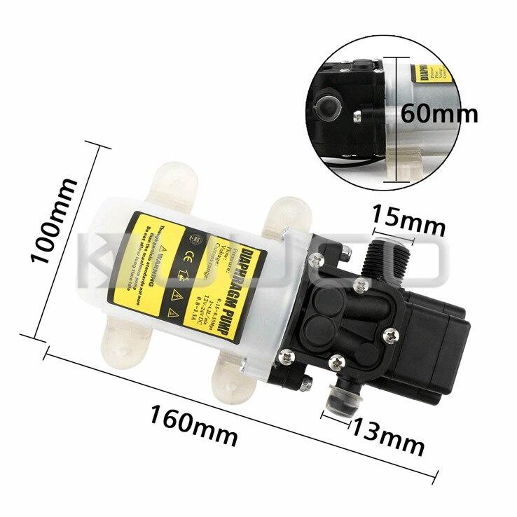 Pompe à diaphragme 60W DC 12V 5A pompe auto-amorçante Micro diaphragme électrique commutateur automatique pompe à eau haute pression - 5